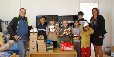 Donacija za decata od internatot Goce Delcev vo Ljubanci